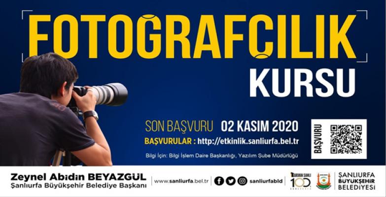Büyükşehir'den Profesyonel Fotoğrafçılık Kursu