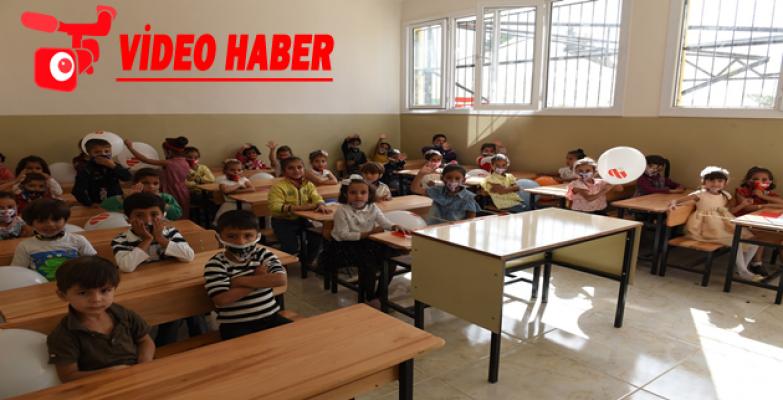 Telabyad'da Onarımı Tamamlanan Bir Okul Daha Öğrencilerle Şenlendi
