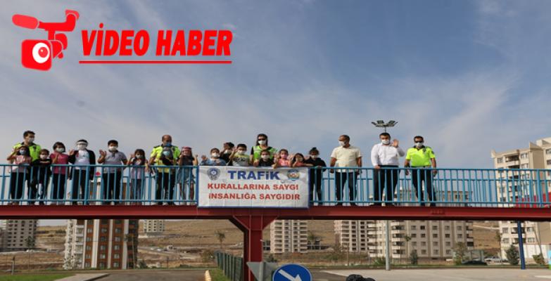 Türkiye'nin En Büyük Çocuk Trafik Eğitim Parkı'nda İlk Eğitim Verildi