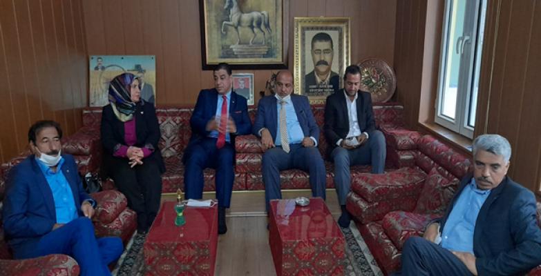 Anavatan partisi il başkanı Aslan'dan Siverek ziyareti