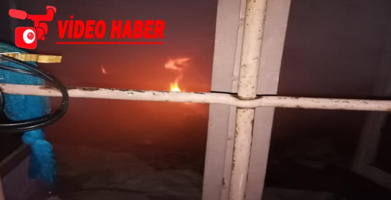 Eyyübiye'de yangın