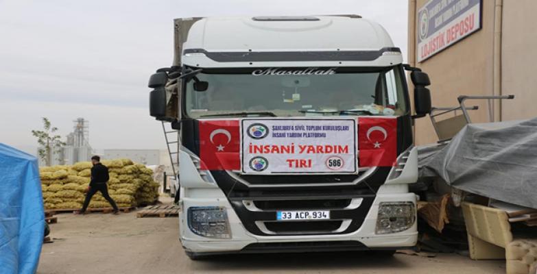 İdlib'e 2 tır insani yardım gönderildi