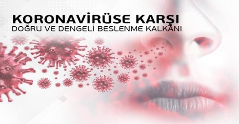 Koronavirüse Karşı Doğru Ve Dengeli Beslenme Kalkanı