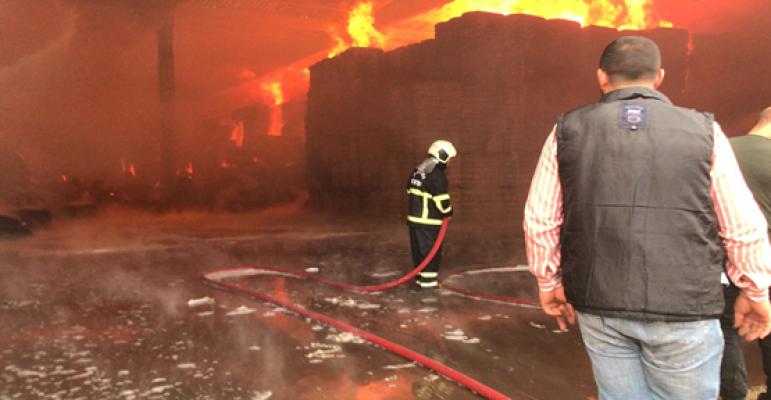 Şanlıurfa'daki fabrikada büyük yangın
