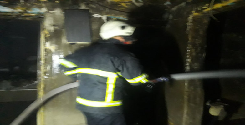 Suruç'ta ev yangını