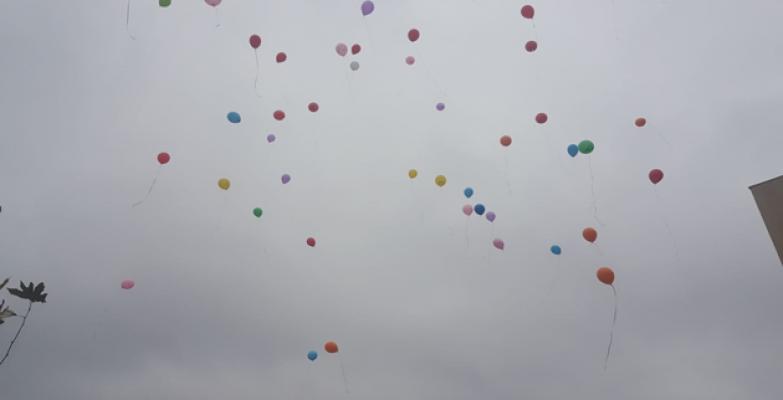 Şanlıurfa'da sağlıkçılar için balon uçuruldu