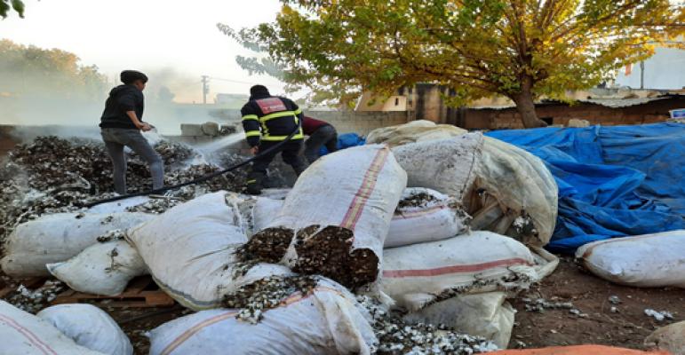 Urfa'da yangın