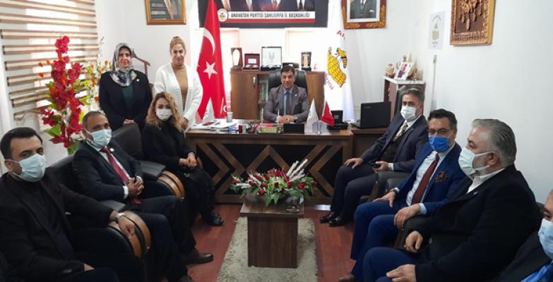 Deva Partisi'nden Anavatan  İl Başkanlığına Ziyaret