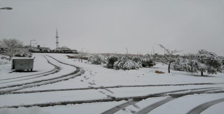 Urfa'ya kar yağdı