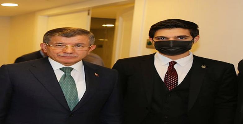 Genç Siyasetçi Ahmet Bakır, Davutoğlu ile bir araya geldi