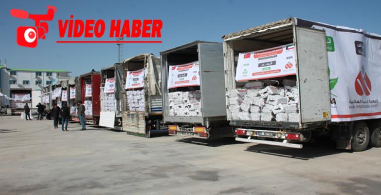 Suriye'ye 2 Milyon Türk lirası değerinde  28 tır yardım gönderildi