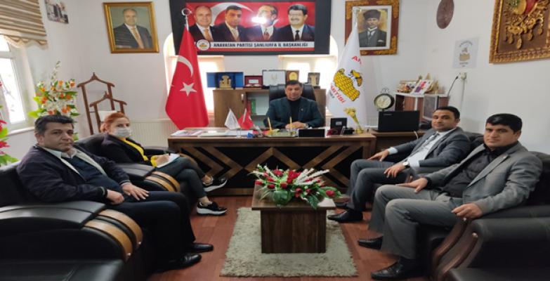 CHP Haliliye'den Anavatan partisine ziyaret