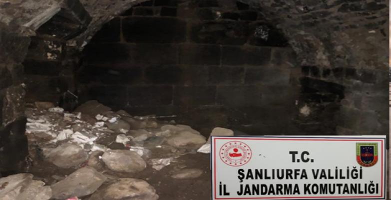 Viranşehir'de  izinsiz kazıda Bizans dönemine ait mezar odası bulundu