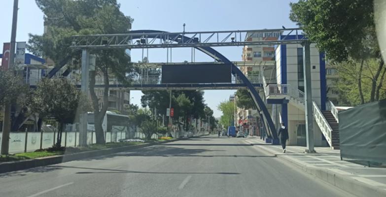 Urfa'da sokaklar ve caddeler sessizliğe büründü