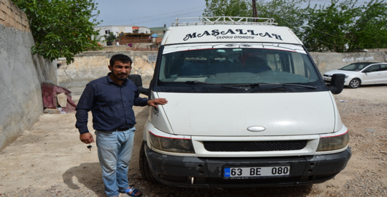 Urfa'da çalınan minibüs bulundu