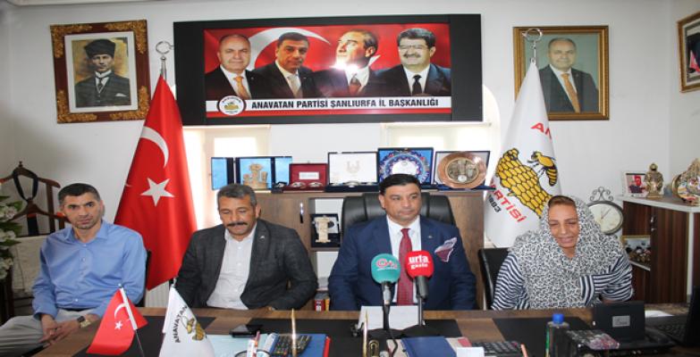 Anavatan Partisi İl Başkanı Aslan'ın gündeme dair basın açıklaması