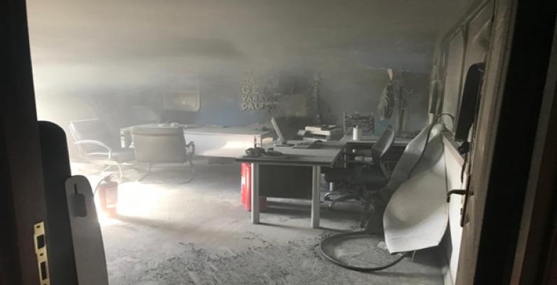 Şanlıurfa'daki iş merkezinde yangın