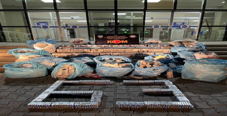 Şanlıurfa'da 16 bin 370 paket kaçak sigara ele geçirildi