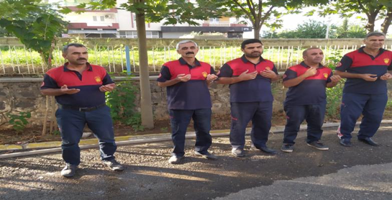 Urfa'da 'İtfaiyeci duası' ile mesaiye başlıyorlar