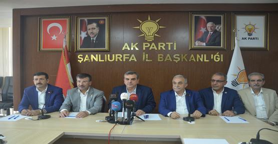 AK Parti Şanlıurfa'dan Basın Açıklaması