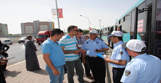 Ankara Zabıtası Urfa'da Halk otobüsü denetledi