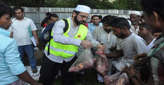Arıkan Müslümanlarına Kurban Yardımı