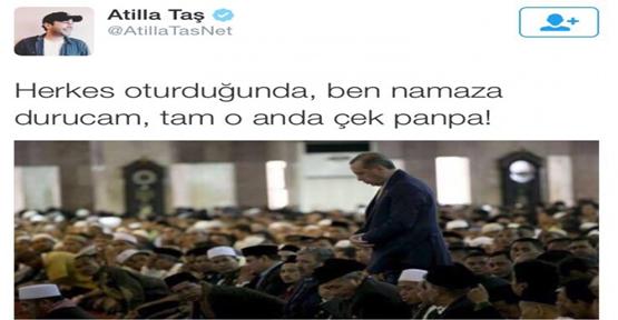 Atilla Taş'a Güvenç'ten twetter