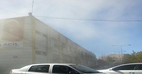 Balıklıgöl Hastanesi'nde çıkan yangın korkuttu