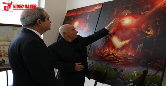 Başkan Demirkol, Kürkçüoğlu'nun Sergisini Ziyaret Etti