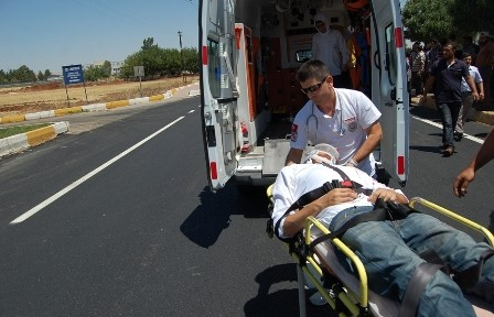Belediye otobüsü Kaza yaptı; 1 Yaralı