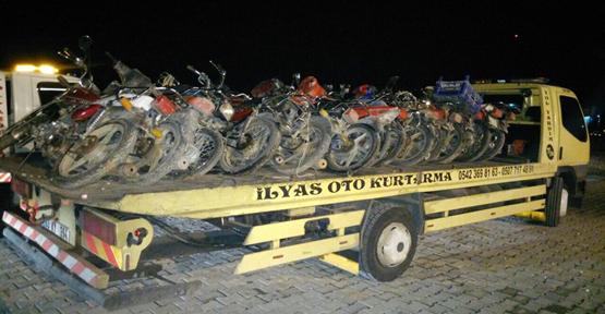 Çalınan 20 motosiklet bulundu