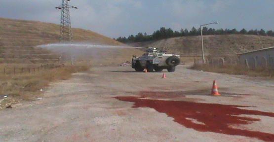 Çevik Kuvvet Polislerine Panzer Eğitim