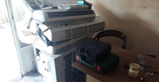 Elektrik kesintilerinden klimalar zarar gördü