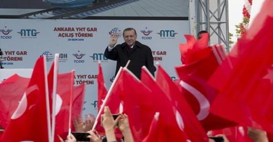 Erdoğan Ankara YHT Garı açılışında konuştu