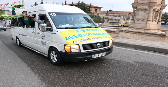 Haliliye Belediyesi'nden  Şanlıurfaspor'a Taraftar Desteği