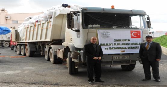 Şanlıurfa'dan Suriye'ye umut konvoyu bugün de hareket etti.