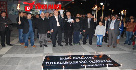 Kesk Şanlıurfa Şubeler Pltformu Meşaleli Protesto