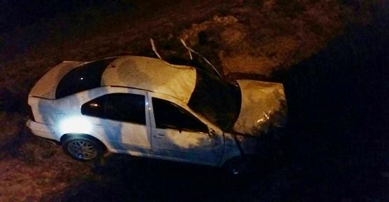 Köy yolunda kaza, 1 yaralı