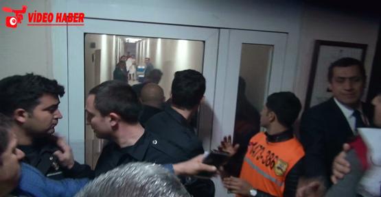 Maçın sonrası basın odasında gerginlik