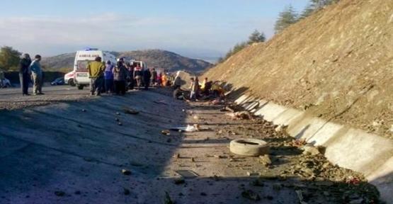 Mevsimlik işçiler kaza yaptı, 15 ölü