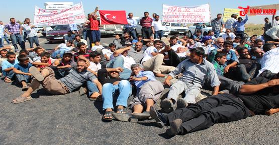 Şanlıurfa Akçakale Karayolu kapatıldı