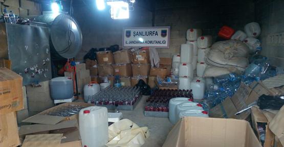 Şanlıurfa Jandarma'dan kaçak içki operasyonu