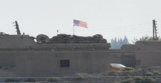 Şanlıurfa sınırda ABD Bayrağı