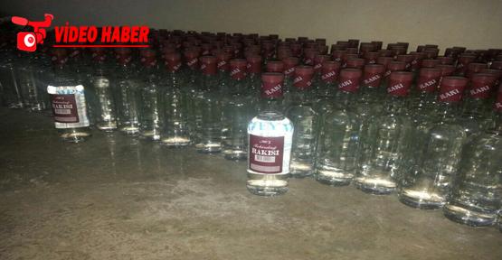Şanlıurfa'da 60 koli sahte içki yakalandı