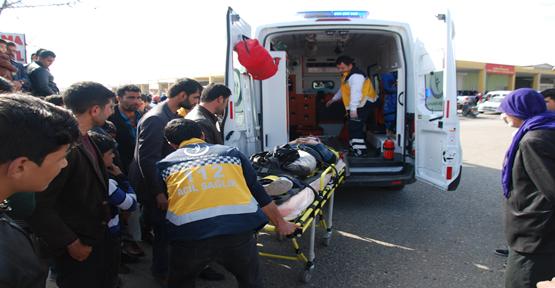 Şanlıurfa'da motosiklet kazası, 1 yaralı