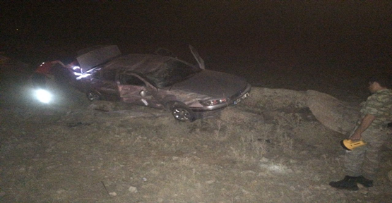 Şanlıurfa'da otomobil şarampole yuvarlandı