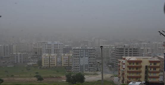 Şanlıurfa'da Toz Bulutu Kapladı
