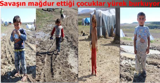 Savaşın mağdur ettiği çocuklar yürek burkuyor
