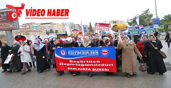 """STK'LARDAN """"BAŞÖRTÜSÜ"""" İÇİN OTURMA EYLEMİ"""