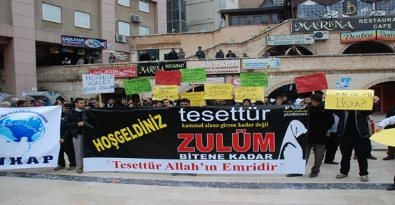 "TESSEF'TEN ""BAŞÖRTÜSÜ"" PROTESTOSU"